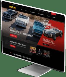 Mecum Auctions website design