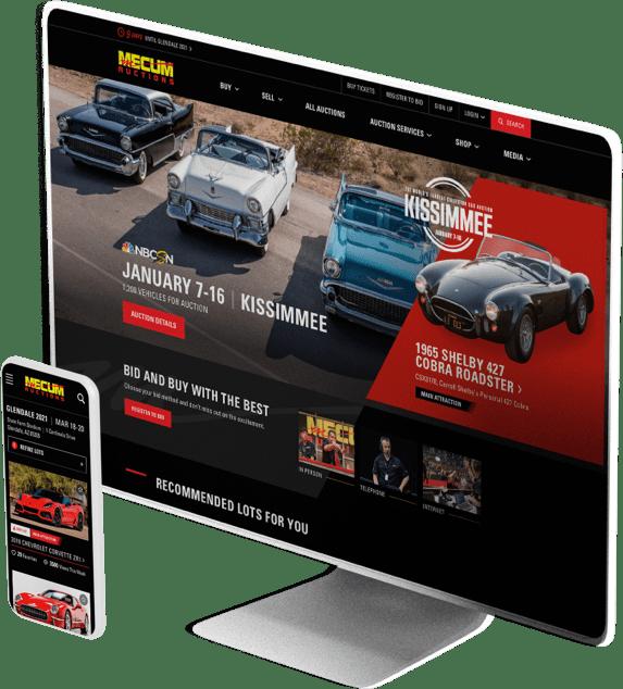 Mecum Auction website design