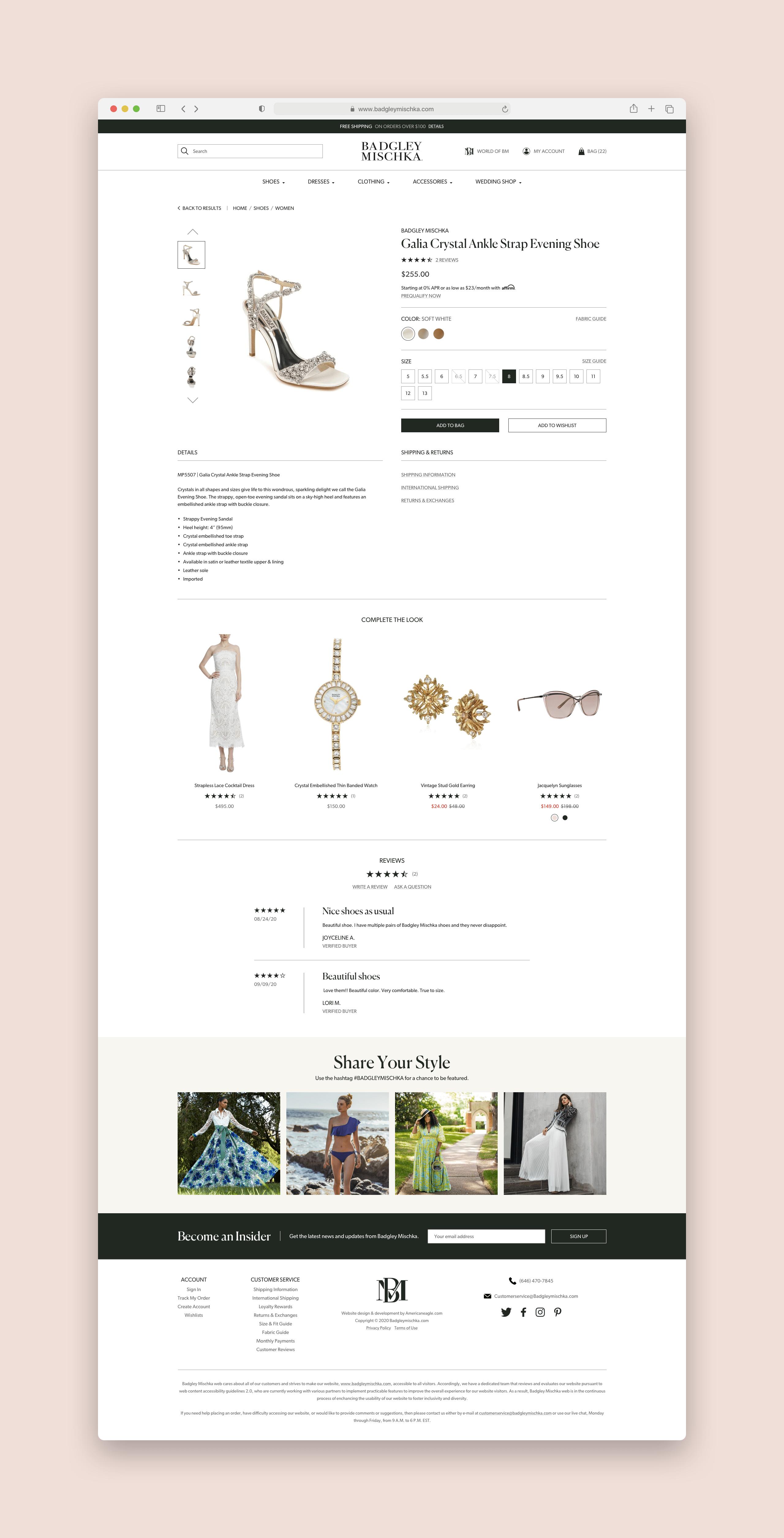 Badgley Mischka Product Detail