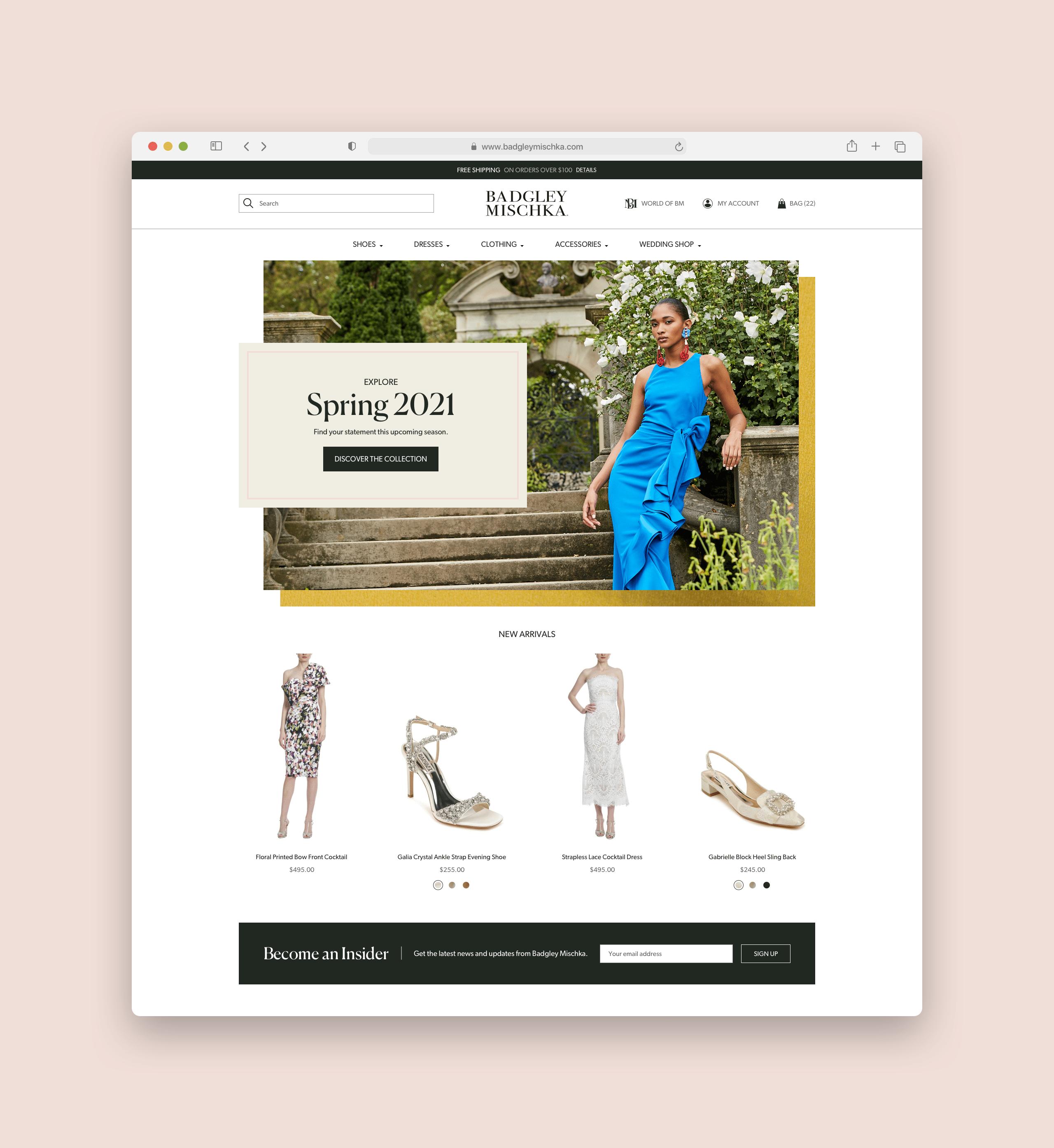 Badgley Mischka Website