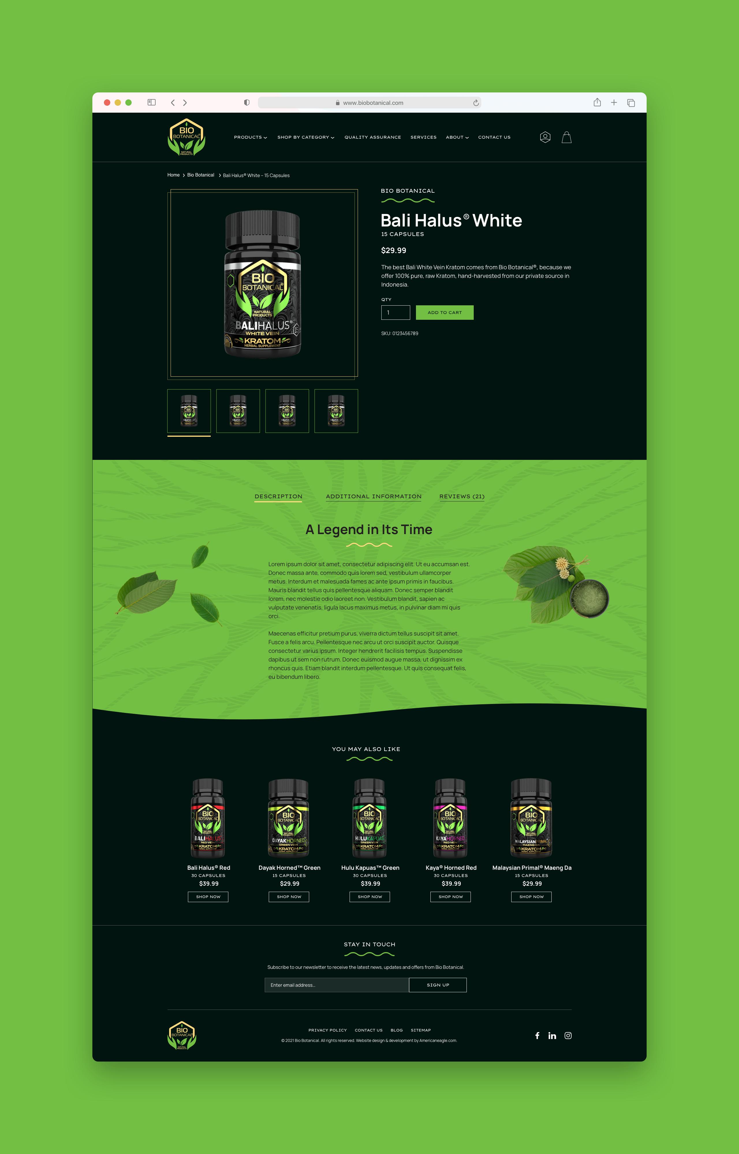 Bio Botanical Product Detail