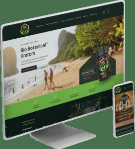 Bio Botanical website design