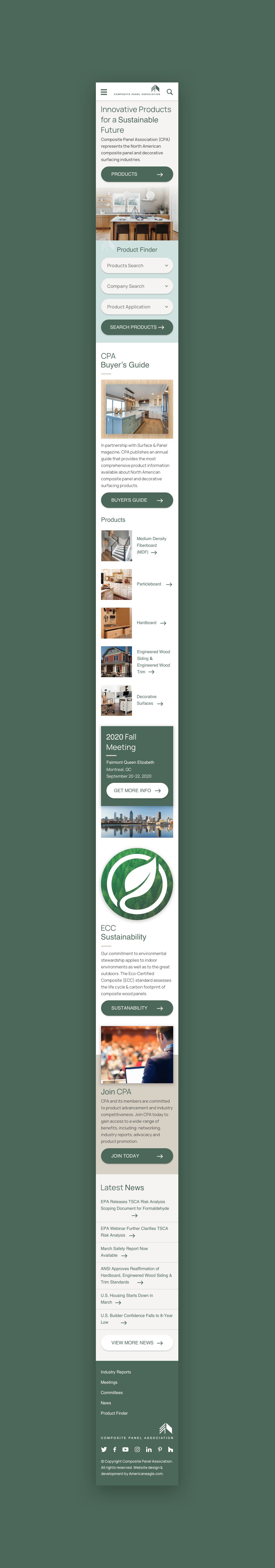 CPA Mobile Homepage