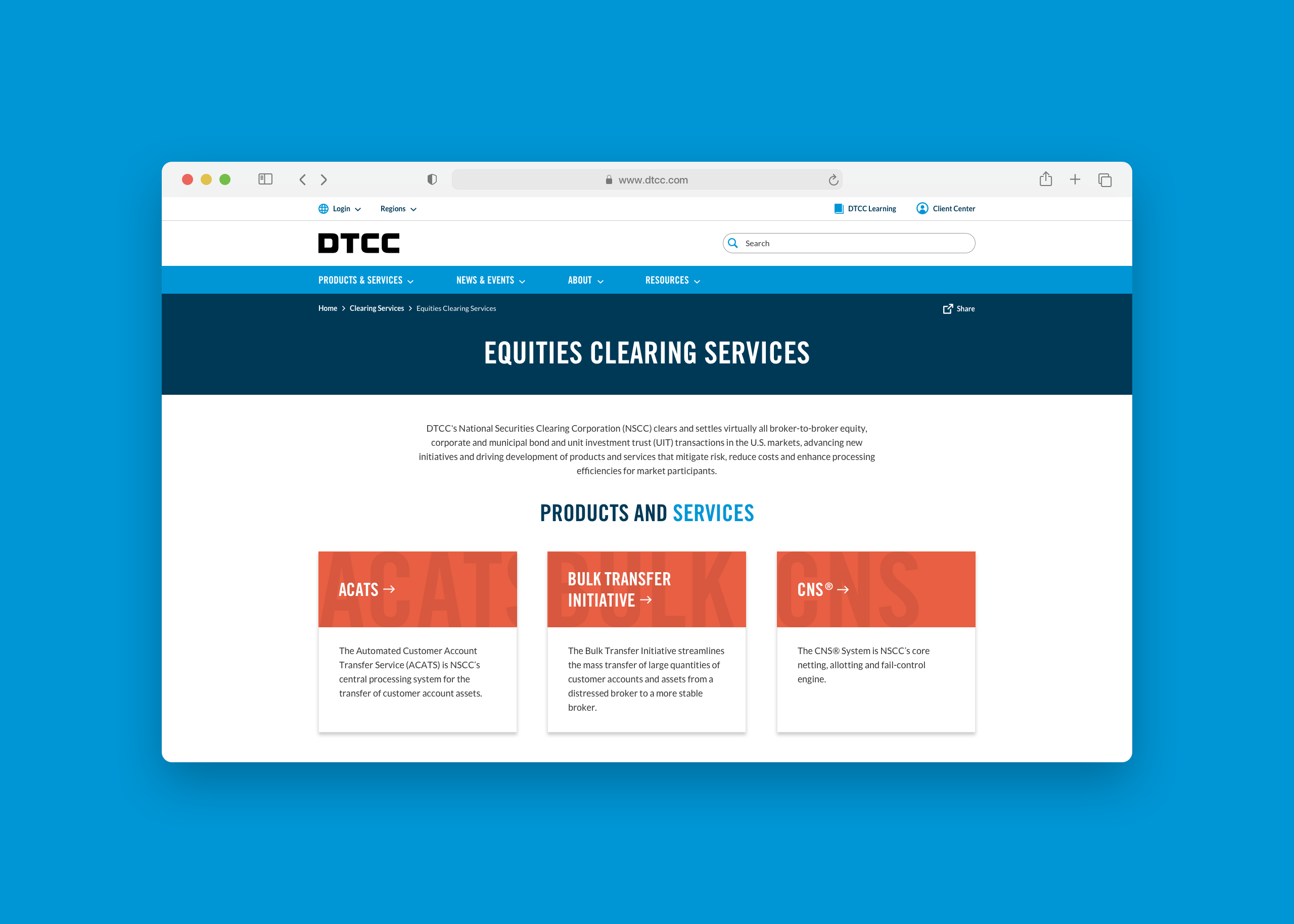DTCC Products & Services Offerings Zoom