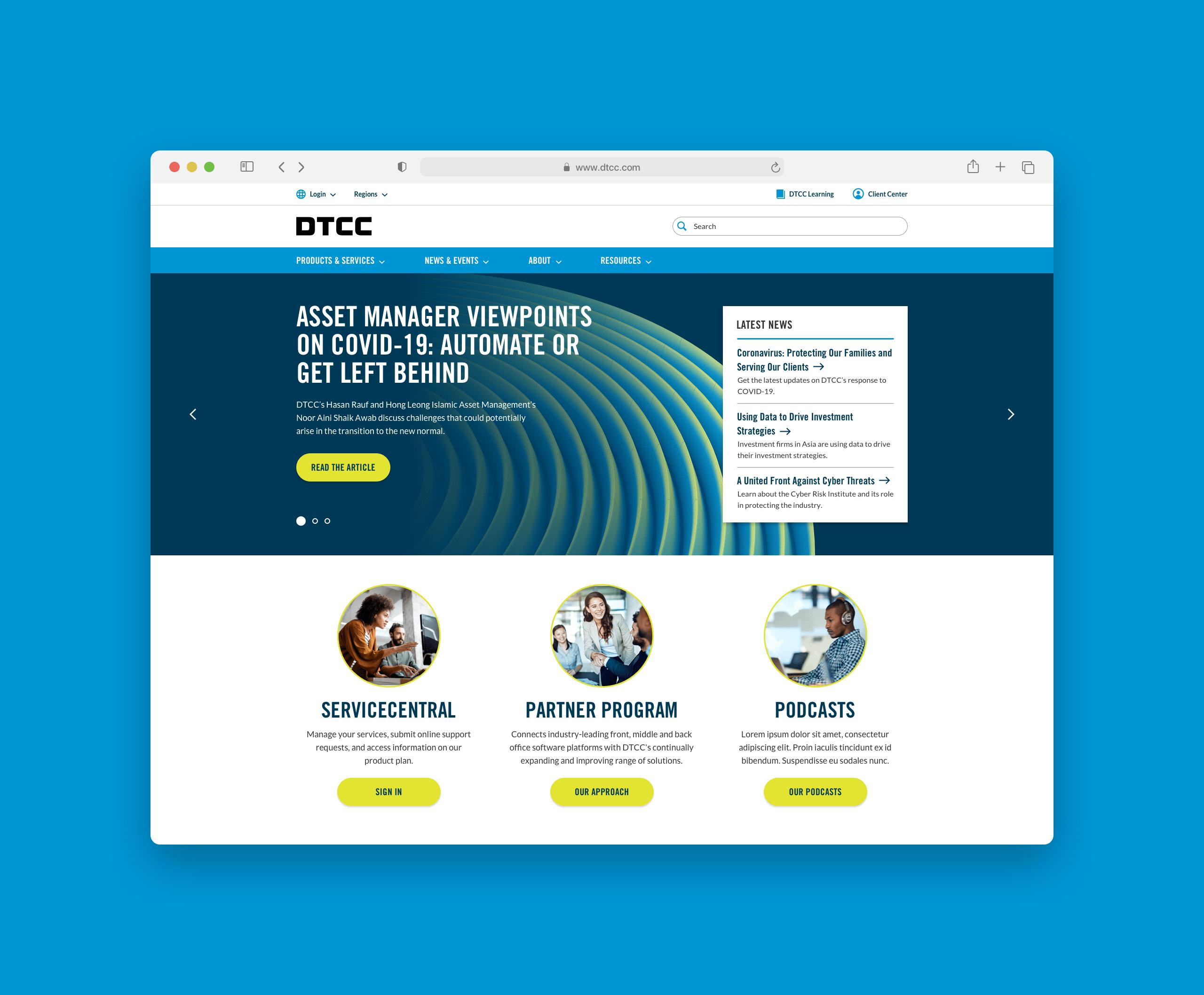 DTCC Website