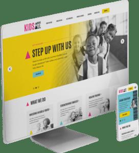 Kids Above All website design