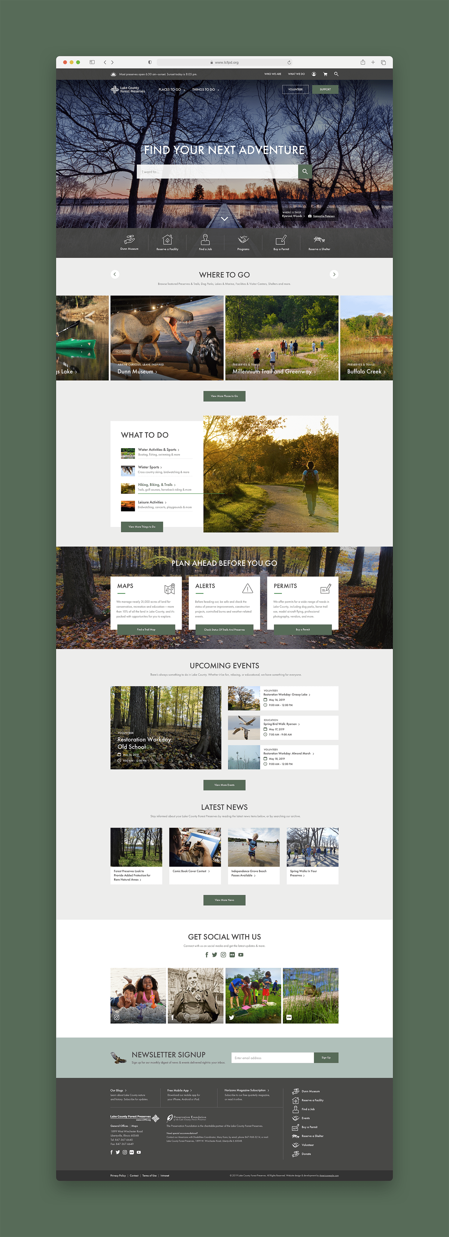 Lake County Forest Preserves Homepage