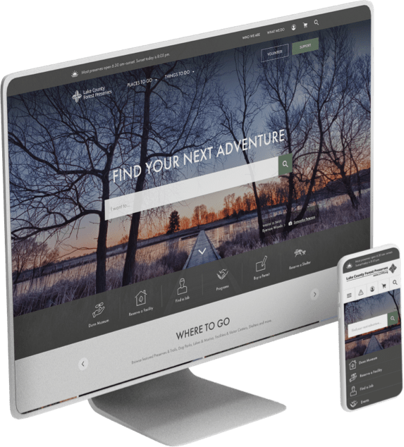 Lake County Forest Preserve District website design