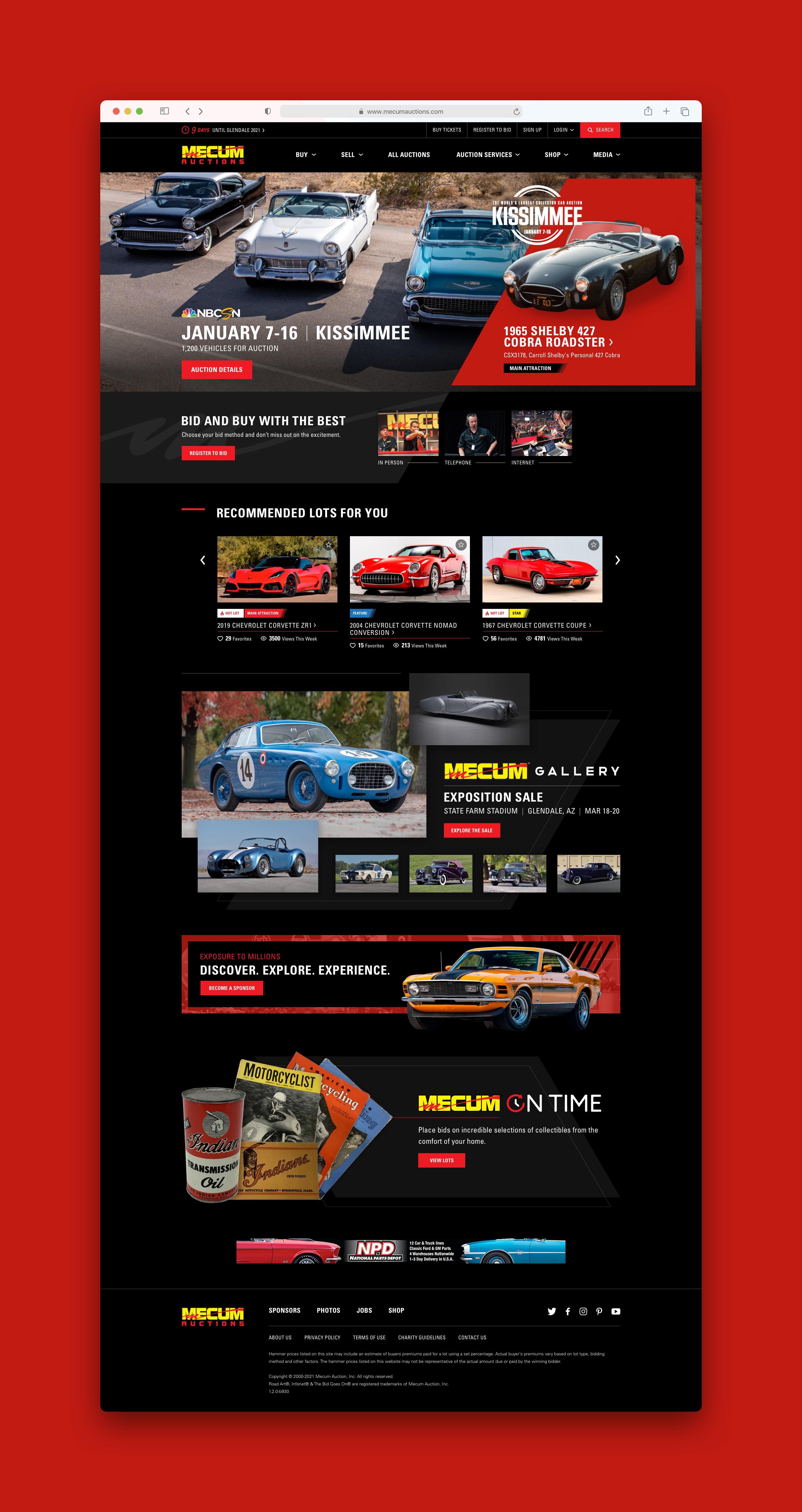 Mecum Homepage