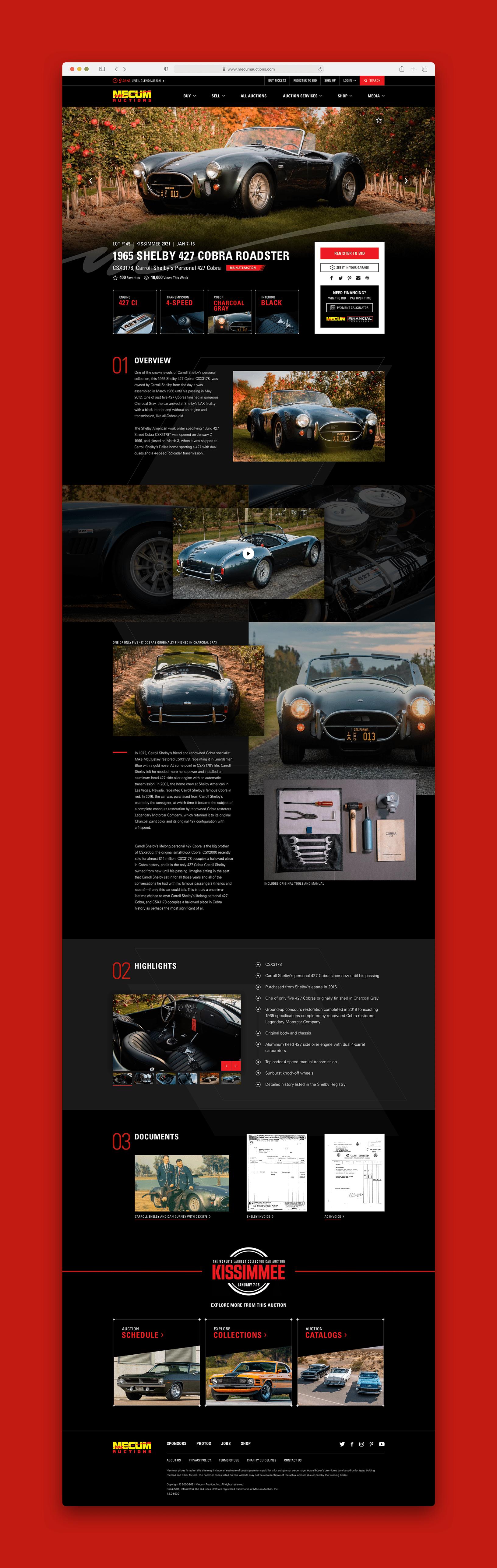 Mecum Premium Auction Detail Page