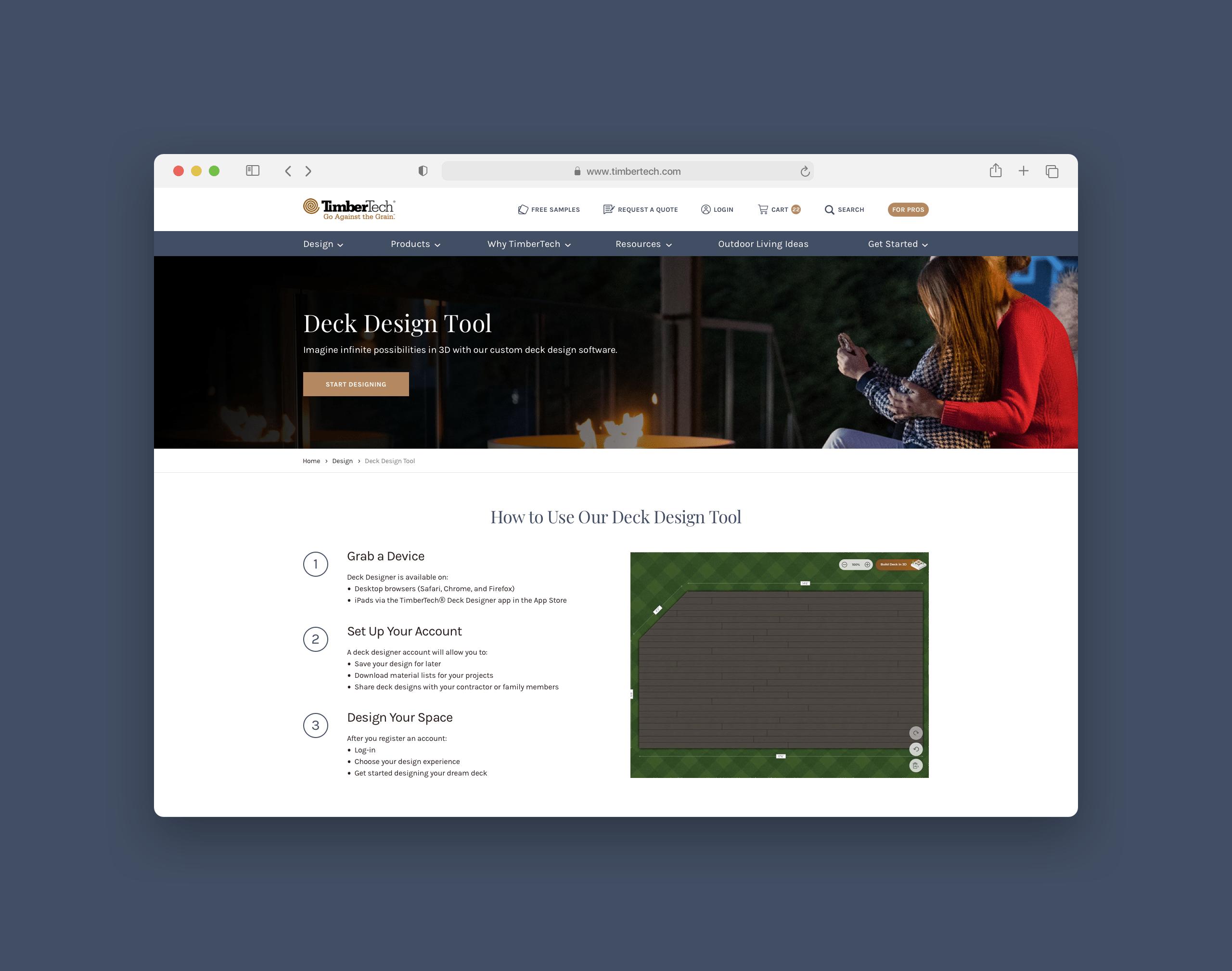 TimberTech Deck Designer Zoom