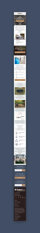 TimberTech Mobile Homepage