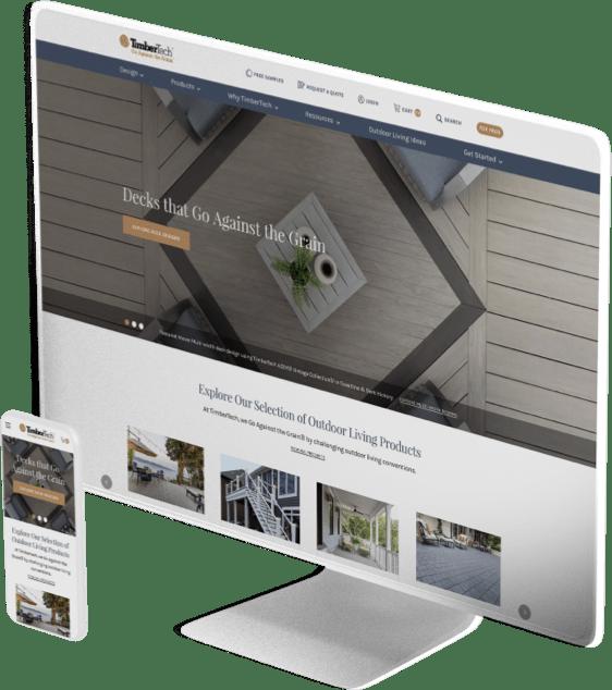 TimberTech website design