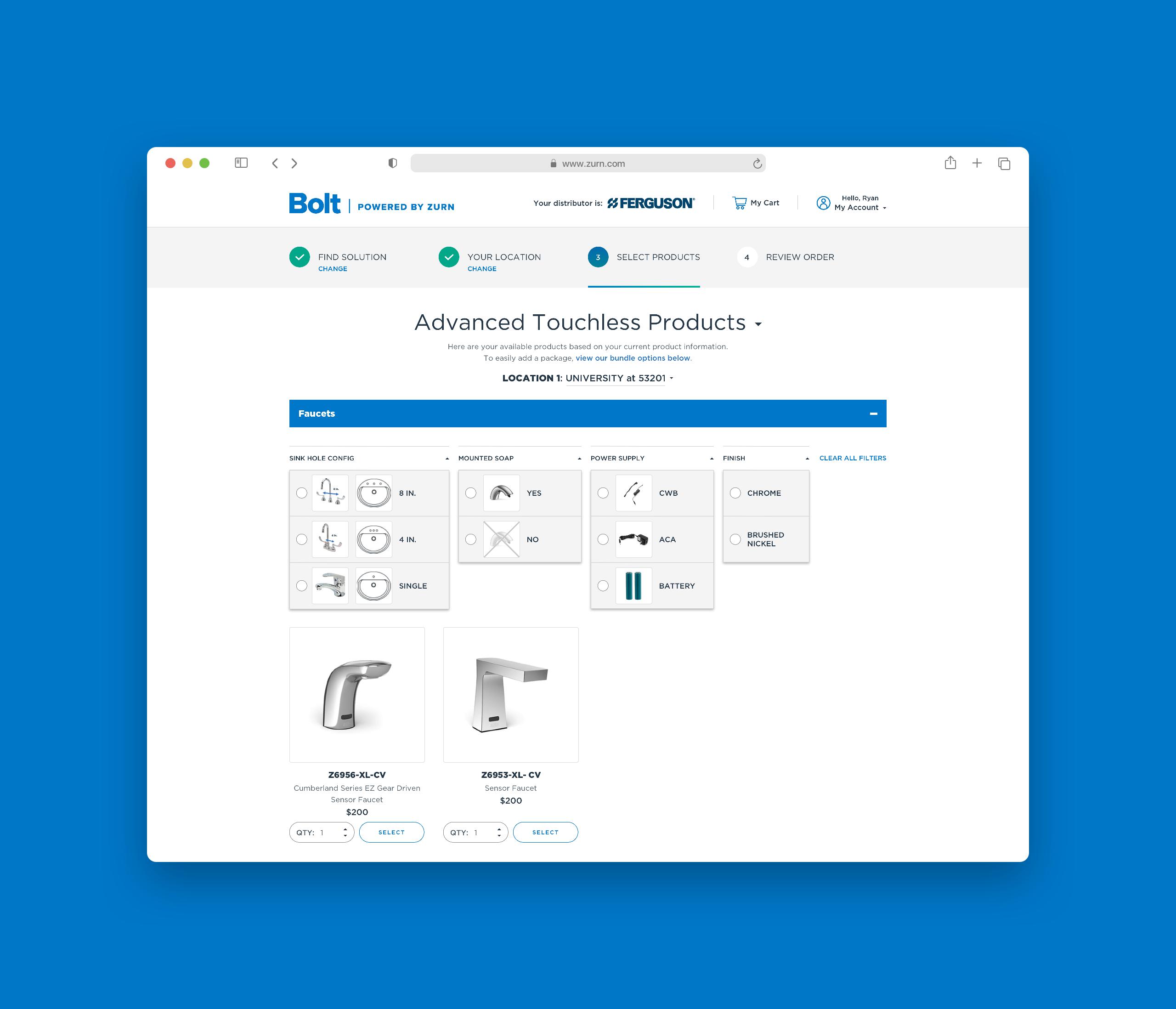 Zurn Advanced Product Options