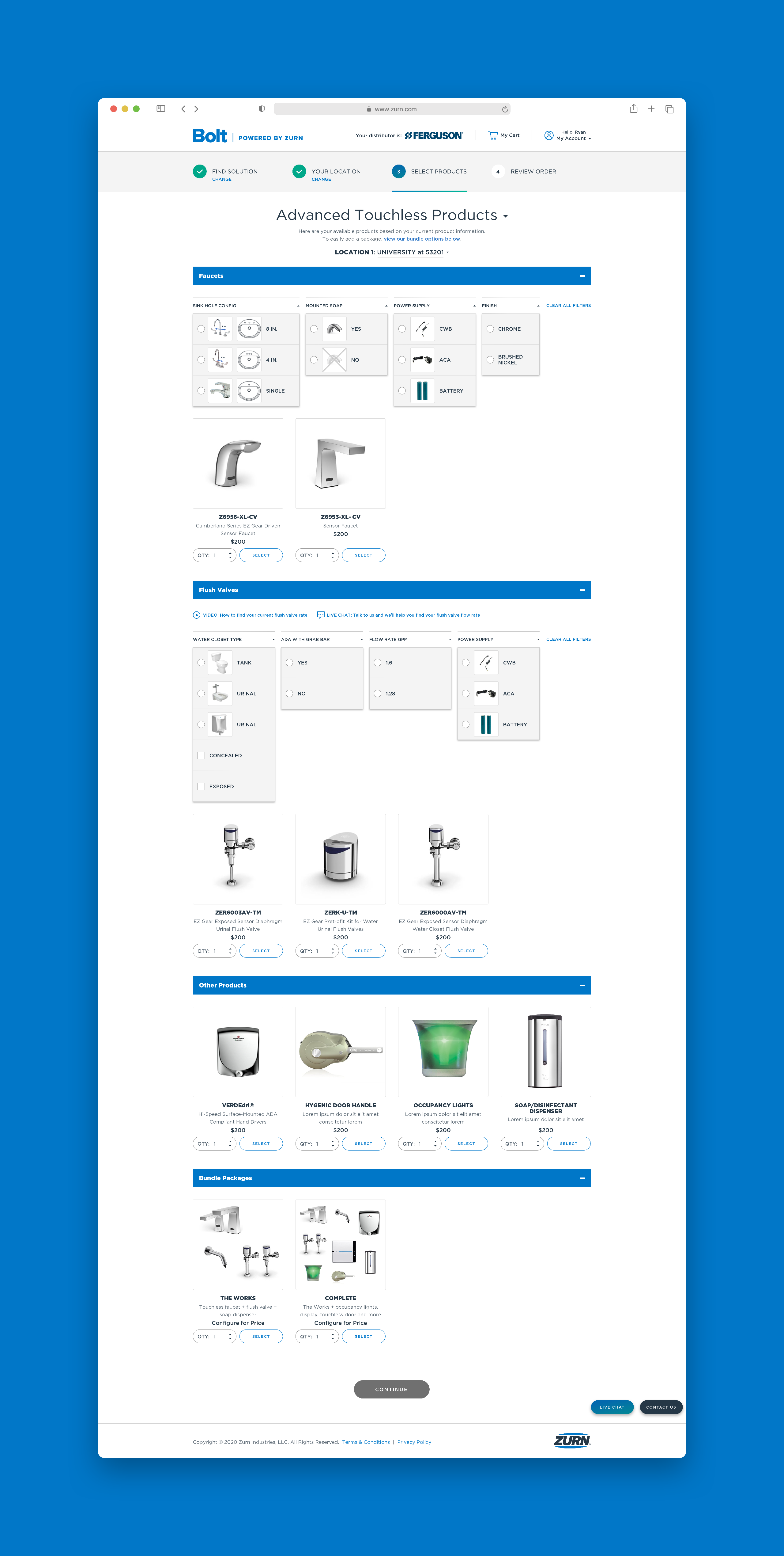 Zurn Advanced Product Options Full