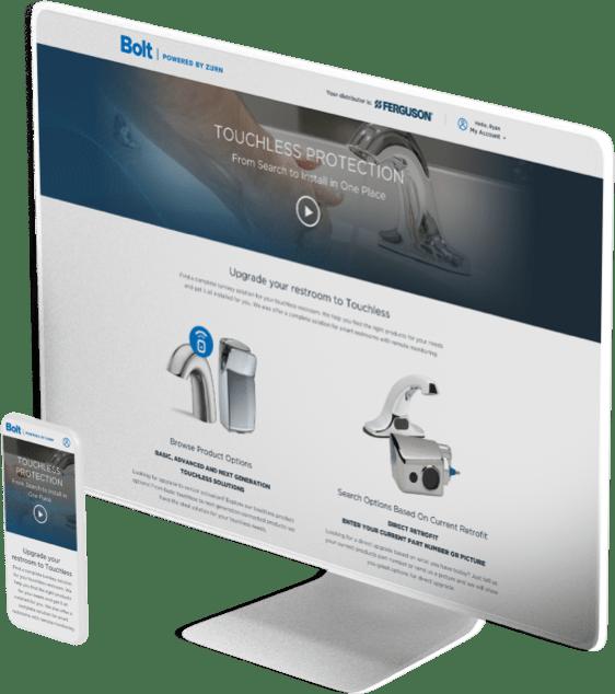 Zurn Configurator website design